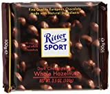 Ritter Sport , Darkc Chocolate with Whole Hazelnuts, 3.5 oz of Each , Pack of 4
