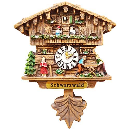 Ciffre Kuckucksuhr Magnet Polyresin Kühlschrank Handmade Braun - Schwarzwald | Dekoration > Uhren > Kuckucksuhren | Ciffre