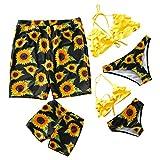 IFFEI Two Piece Off Shoulder Sunflower Bikini Family Matching...