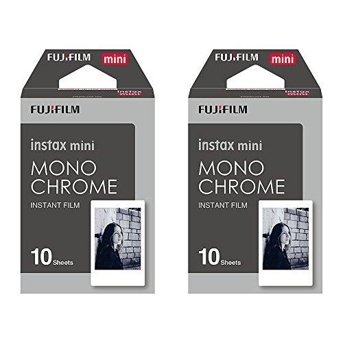 Pelicula instantanea para Instax Mini monocromatica (blanco y negro), – 20 unidades