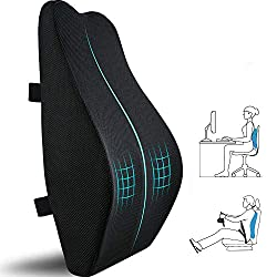 professional Lumber support cushions for office chairs, car seats, chairs, memory foam back cushions for computer tables …