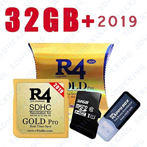 SDHCKING 2019 Gold Pro Carte SDHC & TF de 32 Go pour DSSI DSI 2DS 3DS, déjà téléchargée au Royaume-Uni DE en IT ES Kernel