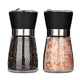 Hotder Molinillos de pimienta y sal, 2-pack molinillos de especias, una herramienta ideal para cocinar