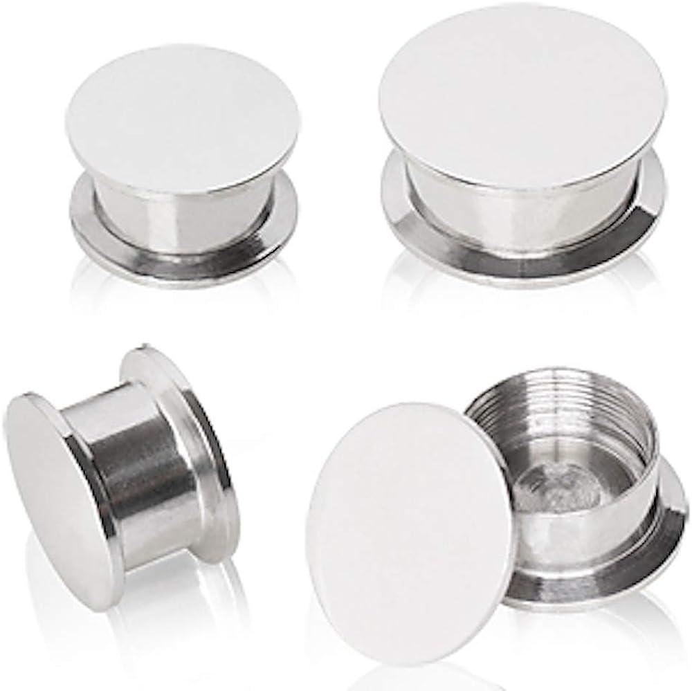 Covet Jewelry 316L Surgical Steel Screw Fit Stash Plug (8GA)