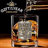 English Pewter Company VIN001 - Vaso de cristal para whisky (70 cumpleaños o aniversario)