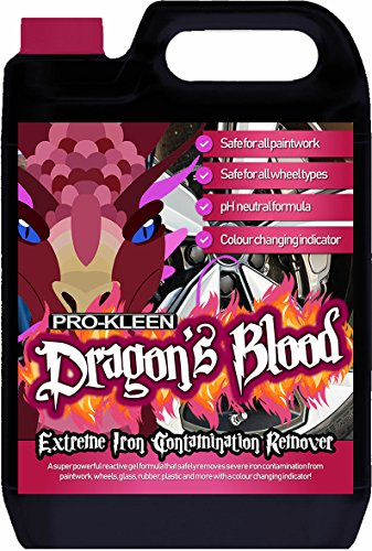 Pro-Kleen Dragon's Blood Extreme Iron Contamination Fallout Remover (5L) Super Concentrated, pH...
