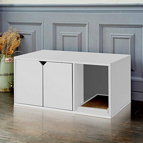 Enclosed Litter Boxes for Cats Eco-Friendly Cat Box Hidden Cat Loo White Color Durable & - Skroutz Deals