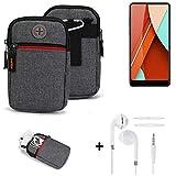 K-S-Trade® Gürtel-Tasche + Kopfhörer Für Bluboo D5 Pro