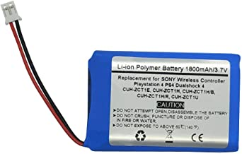 1800mAh/3.7V Battery For Sony Playstation PS3 PS4 Gold Wireless Headset & PS4 Dualshock 4 Wireless Controller Models: CUH-ZCT1E, CUH-ZCT1H, CUH-ZCT1H/B, CUH-ZCT1H/R, CUH-ZCT1U, 2015 & older models