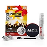 Alpine PartyPlug Pro Natural Music Ear Plugs – Noise Reduction Ear Plugs for Concerts, Parties, and Festivals - Hypoallergenic Reusable Musician Ear Plugs for Noise Reduction