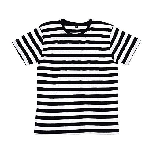 Mantis – Camiseta retro de rayas. azul marino, blanco M