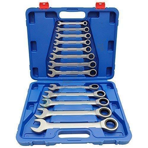 Ratschenschlüssel Ring Maul Ratsche Schlüssel Satz 8-32mm Werkzeug Set 13 tlg