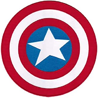 C&D Visionary Marvel Comics Retro Captain America Shield - Licensed Original Artwork, Embroidered Iron On Patch - 7.25""