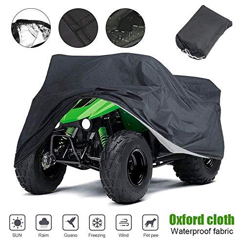 Waterproof ATV Cover, for Polaris Sportsman Outlaw Yamaha Grizzly Wolverine YFZ Honda Sportrax TRX Kawasaki Bayou Wheel Car Black 78.74x37.4x41.73 inch