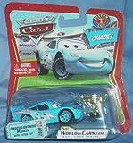 Disney / Pixar CARS Movie 1:55 Die Cast Car Dinoco Lightning McQueen with Piston Cup Chase Piece! by Mattel
