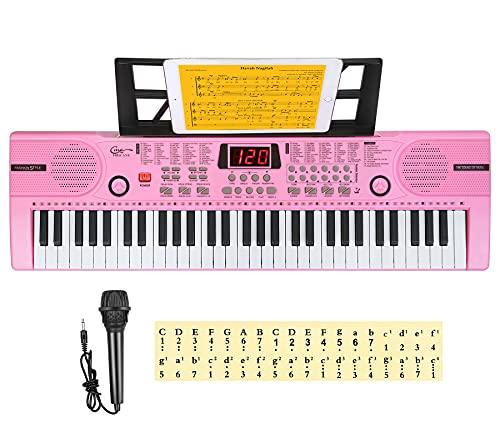 Hricane Kids Piano Keyboard, 61 Keys Beginner Electronic Keyboard Portable Digital...