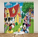lubenwei Mickey Minnie Mouse Cortinas Opacas Oso Piglet Tigger Cortinas para Ventana Dormitorio Sala de Estar Regalo Creativo 166(H) x75(W) Cmx2 Paneles/Set (B-266)