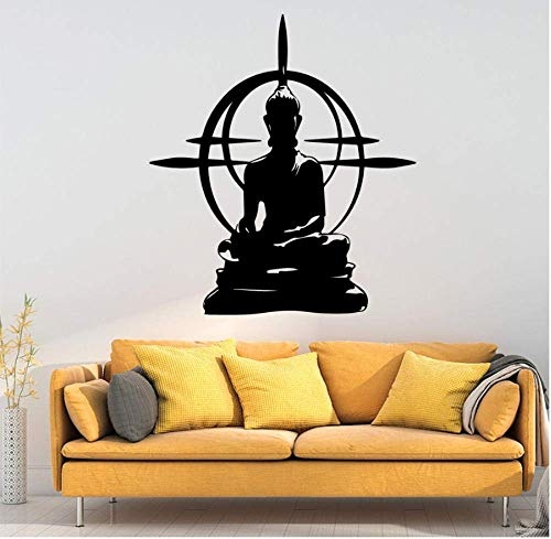 Tatuajes de pared Calcomanía de arte de pared de Buda moderno Pegatinas de vinilo...