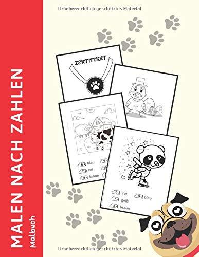 Malen nach Zahlen Malbuch: 1. Klasse Mathe Malblock, Rechnen und Malen für Kinder