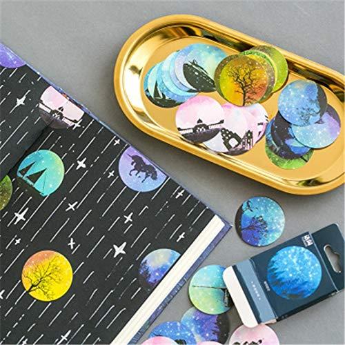 Blour Sticker in Box luchtballonnen reclame sticker boeken handboeken fotoalbum decoratieve stempel 46 stuks