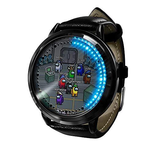 Among Us Reloj Reloj LED Pantalla táctil a Prueba de Agua Luz Digital Reloj Reloj de Pulsera Unisex...