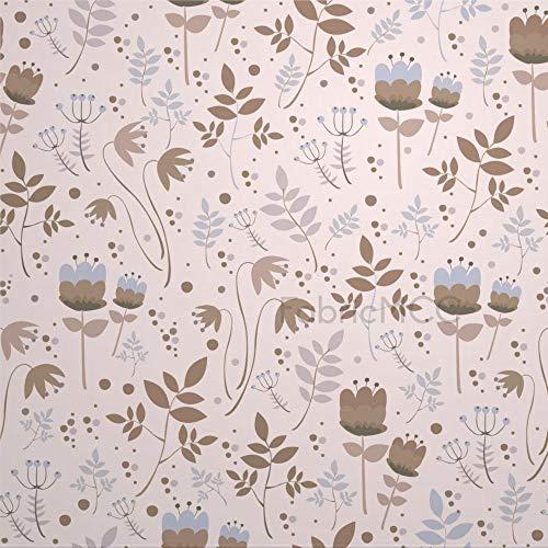 daoyiqi Juego de pegatinas decorativas para azulejos, diseño floral, color beis, pedicel, flores silvestres, 4 x 4 pulgadas, 12 unidades de vinilo impermeable para decoración del hogar