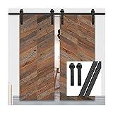 gifsin 8.2FT/250cm Herraje para Puerta Corredera Kit de Accesorios para Puertas Correderas,Negro J-Forma