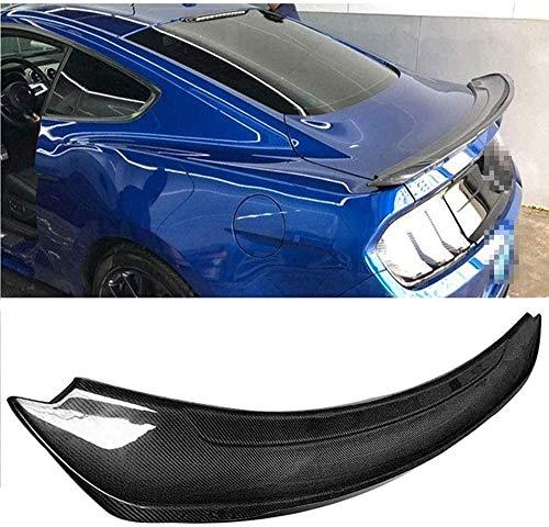 Alerón Trasero Spoiler de Fibra de Carbono para Ford Mustang Gt V8 Gt350R V6 Coupe, Accesorios de Modificación del Alerón del Maletero, Duradero, Brillante