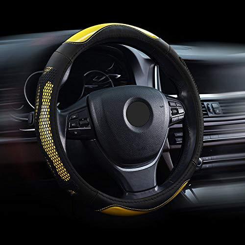 W-J-S Original Leder Autolenkradabdeckung Four Seasons 37-38cm Universal Für Die Meisten Modelle Autozubehör...