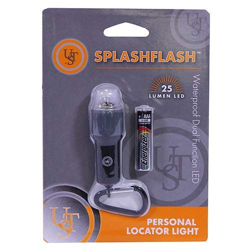 UST SplashFlash 25 Lumen Waterproof, Mini-Lantern, Safety and Personal Locator Light with Lifetime LED Bulb for Hiking, Emergency and Outdoor Survival - New