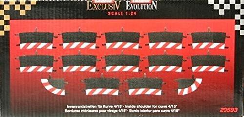 Carrera - rail et accessoire pour circuit - 20020593 - 1/24 et 1/32 - Carrera Evolution -Carrera Digital 132 et 124 - Bordures intérieures pour les courbes 1/30° (6), embouts (2)