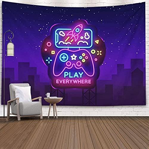 KHKJ Tapiz de Pared para Juegos Controlador Moderno Maqueta inalámbrica Tapices de Arte de Pared Sala de Estar Sala de Estar Decorativa para el hogar A4 95x73cm