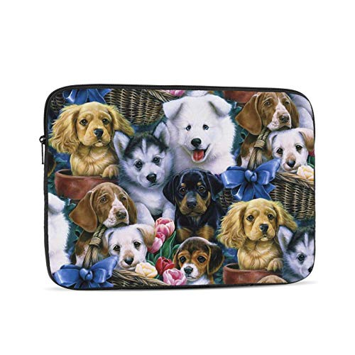 15-15.6 Inch Laptop Case Cute Dog Notebooks Sleeve 360°Protective Waterproof Dusteproof Computer Carrying Cover Portable Zipper Laptop Bag