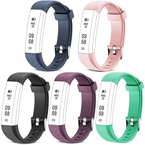 Rayfit Pulseras de Repuesto para Fitness Tracker Correa ID115U / Correa 115U / 115UU Smart Band Correa Repuesto de Reloj...