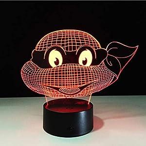 Mutant Ninja Turtles Led Lamp 7 Colors Changing Turtle Night Light Lamps 3D Touch Nightlight Kids Teenage Gift