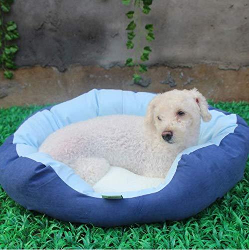 FVNJHL Weiche Baumwolle Hundebett Zwinger Abnehmbare Winter Warme Flanell Pet Matte Für Hunde Waschbar Candy Farbe Hund Katze Gemütliche Schlafsofa 45 * 35 cm