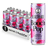 Health-Ade Booch Pop, Pom Berry, Healthy Soda for Gut Health, Made with Kombucha, Calcium, and Magnesium, 8 Pack Case (12 Fl Oz Cans)