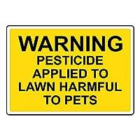 安全標識-ペットに有害な芝生に適用される警告農薬。インチの金属錫標識UV保護および耐候性、通知警告標識