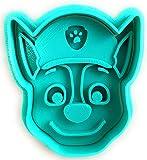 Molde Cortador de Galletas - Dibujos Animados de Patrulla Canina - Chase (Turquesa)