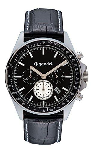 Gigandet Herrenuhr Chronograph Quarzwerk Analog mit Lederarmband Volante G3-007