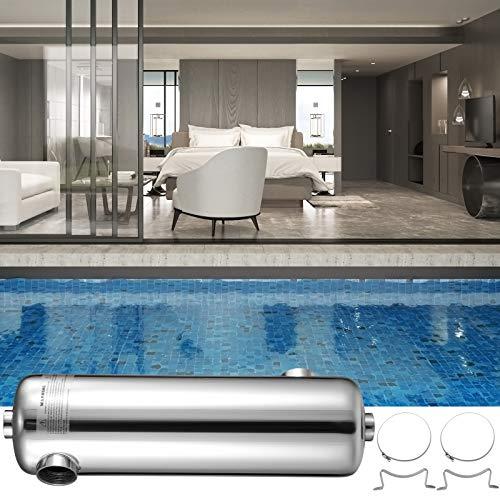 VEVOR Schwimmbad Wärmetauscher 200 KBtu/h Edelstahl Wärmetauscher Pool für Schwimmbäder Spas Whirlpools usw.