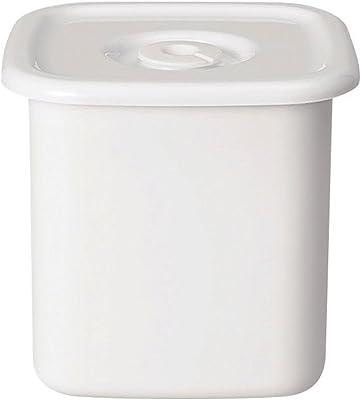 野田琺瑯 ホワイトシリーズ 保存容器 スクウェアL 密閉蓋付 日本製 WSM-L
