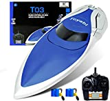 GizmoVine RC Boat High Speed (20MPH+) Remote Control Boats for Pools and Lakes with Extra Battery for Kids and Adults , 2020 Update Version (H106)