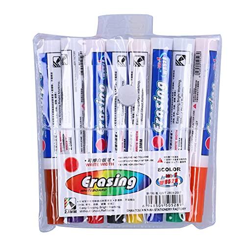 Bolígrafo de Aceite de Color, Marcadores de Pintura en Seco, Borrable Rápido Juego de Rotuladores de Pintura a Base de Aceite para Pintura de Roca Piedra Tela de Cerámica Madera Plástico Lona (8)