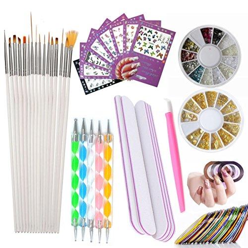Nail Art Tools Manicure Kit...