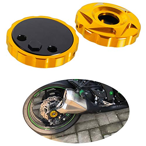 Motorcycle Rear Wheel Axle Caps Frame Hole Covers Fork End Protectors for Z1000/Z1000SX/Ninja 1000 2010-2020 (Gold)