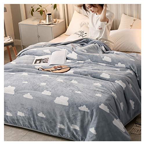 Couverture Simple est Simple Couche Bureau Nap Châle Coral Velvet Quilt 120 * 200cm Little (Color : Clouds)