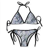 KL Decor Bikini Set,Algas Y Anclas Bikini De Mujer Ropa De Playa Bikini con Estampado Sexy Trajes De Baño