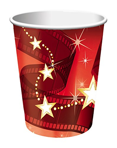 Creative Converting beker, voor warme of koude dranken, 8 stuks 9 oz rood/wit