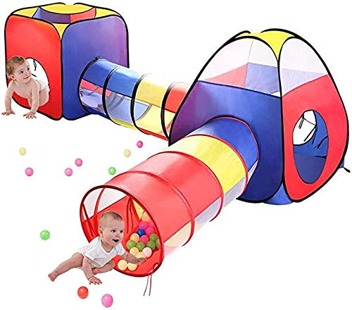 Children's Toy House Tent Pop Up Ball Pit Indoor Outdoor Play Tent Tunnel Tipi 4 in 1 Speeltuin Opvouwbare Portable Voor Kinderen Baby Kids Toys